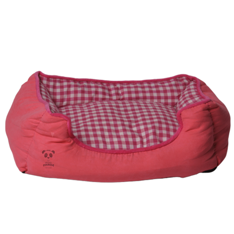 A multicolored mattress for small cats and small dogs