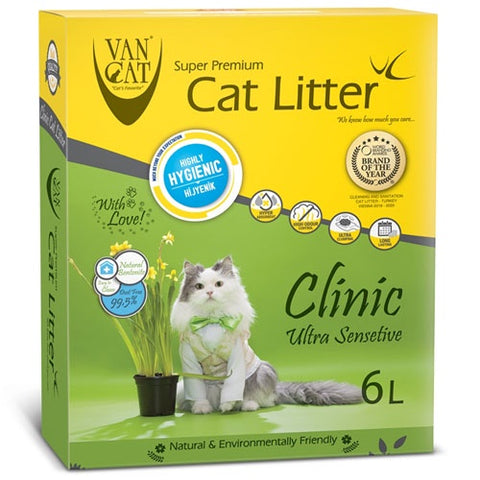 VanCat Super Premium Clinic Cat Litter Hypoallergenic and Antibacterial 6 Liters