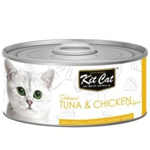 KitCat Canned Cat Tuna And Chicken 80g