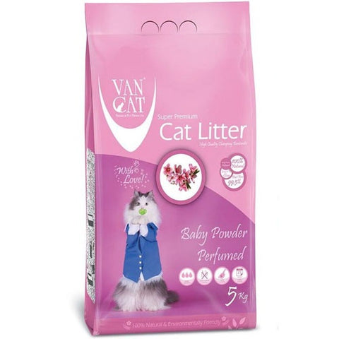 VanCat Super Premium cat Litter with the Scent of baby powder
