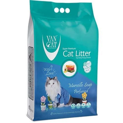 VanCat Super Premium Cat Litter with the Scent of Marsillia Soap