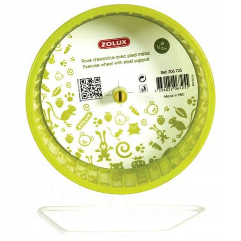Zolux Hamster Metal Wheel Green