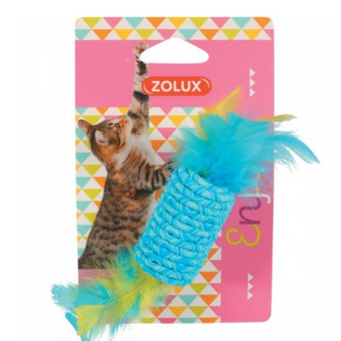 Zolux Enjoy Cat Toy cylindrical Shape Toy with Feathers