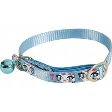 Zolux Blue Nylon Caty Dotted Collar with a bell