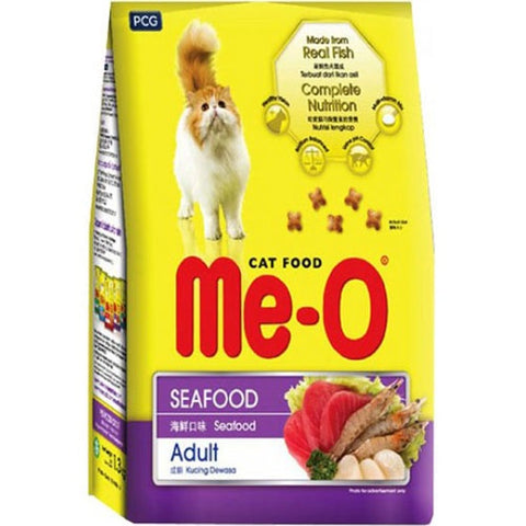 Me-O Adult Dry Cat Food, Seafood Flavor