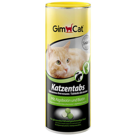GimCat Cat Tabs with Algobiotine for Shiny and Healthy Coat 450g