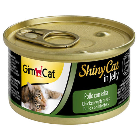 Gim Cat ShinyCat in Jelly Chicken with Grass 70g