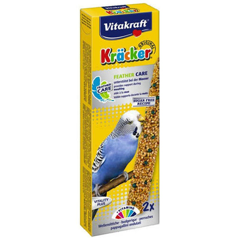 Vitakraft Cracker 2 Sticks Feather Care for Budgies 60g