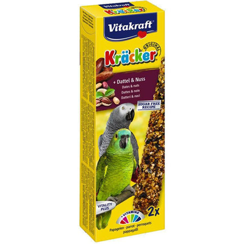 Vitakraft Cracker 2 Sticks Dates and Walnuts for Parrots 180g