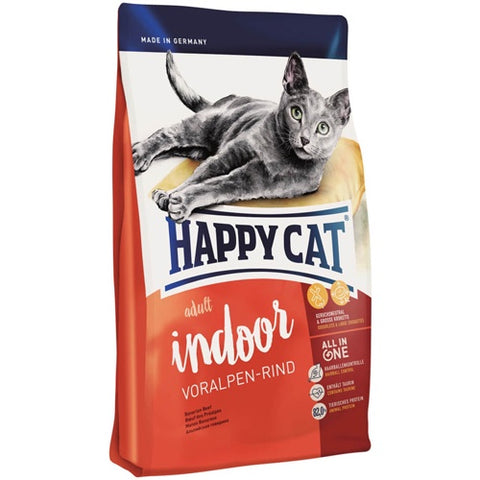 Happy Cat Indoor Dry Food with  Beef