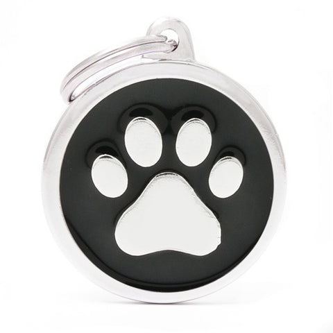 Black Aluminum Cat's Paw shaped Necklace