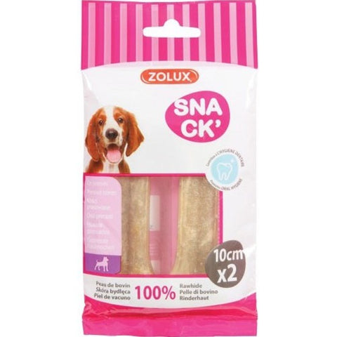 Zolux Bones with A Knot 10cm x 2 Treats for Dogs