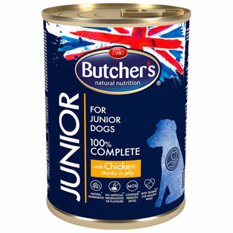 Butcher's junior jelly chunks wet food for small puppies with chicken 400g