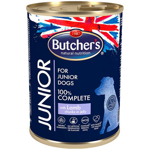 Butcher's junior jelly chunks wet food for small puppies with mutton 400g