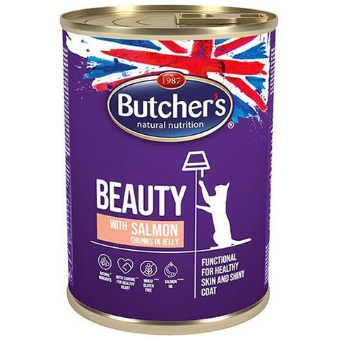 Butcher's Classic Pro Salmon Chunks in Jelly Cans for Cats 400g