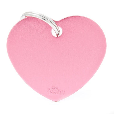 Pink Aluminum Heart shaped Necklace