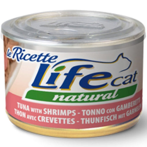 Life Cat canned tuna and shrimp 150 grams