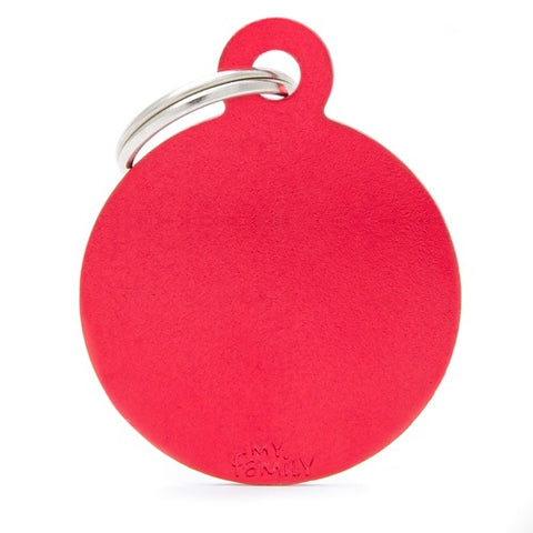 Red Aluminum Round Necklace