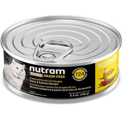 Nutram T24 Total Grain-Free Trout & Salmon Meal Recipe Dry Cat Food 156g