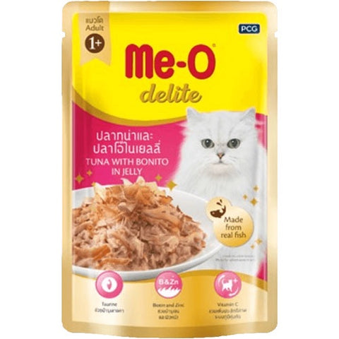 Me-O Cat Food Tuna And Bonito In Jelly Pouches 70g