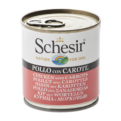 Schesir Chicken with Carrots Canned Dog Food 285g