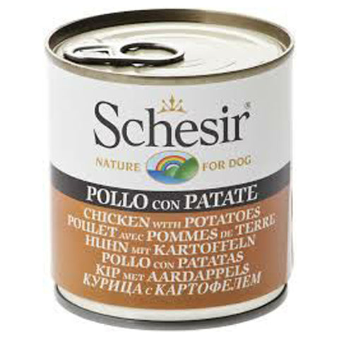 Schesir canned chicken potatoes for adult dogs 285g