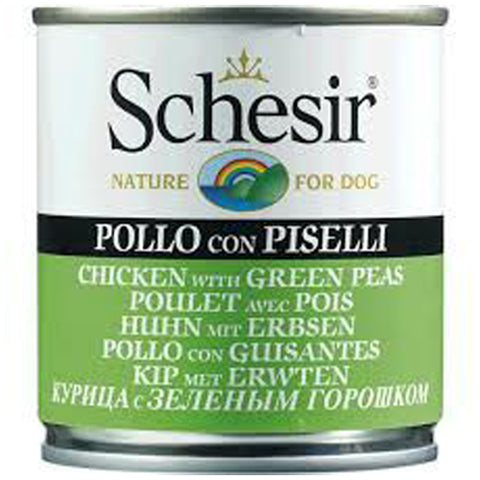 Schesir Chicken with Green Peas Canned Dog Food 285g