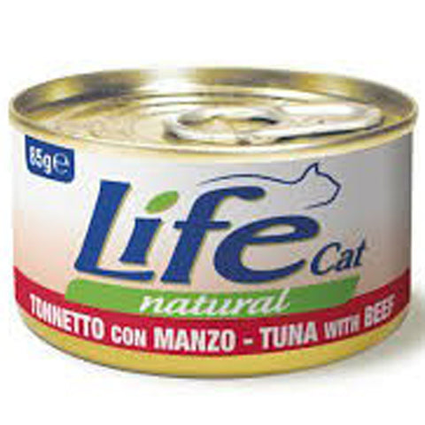 Life Cat Natural Wet Food Tuna with Beef 85g