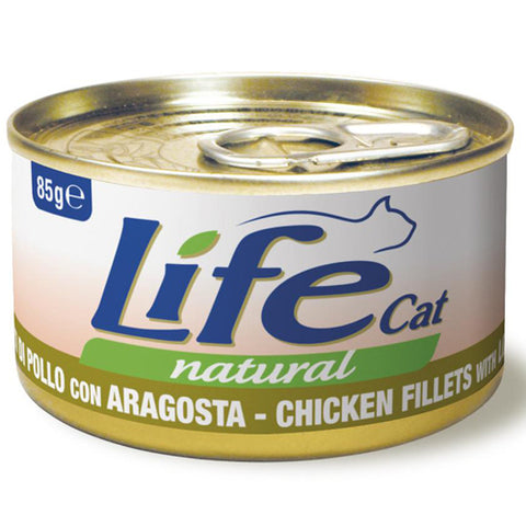 Life Cat Natural Wet Food Chicken Fillets with Lobster 85g