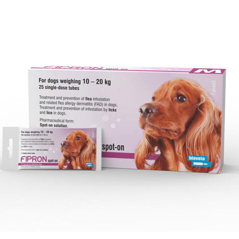 Topical anti-parasitic solute for medium dogs 134 mg