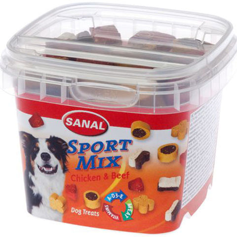 Sanal Dog Sport Mix Chicken And Beef 100g