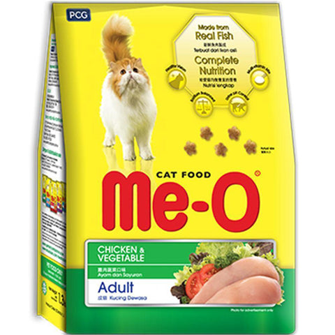 Me-O Adult Dry Cat Food, Chicken and Vegetable