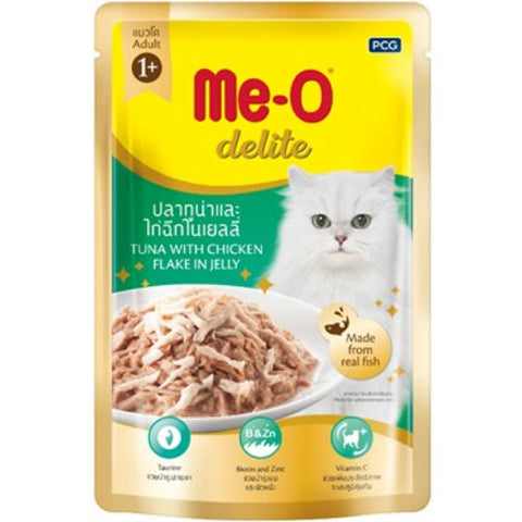 Me-O Cat Food Tuna And Chicken In Jelly Pouches 70g