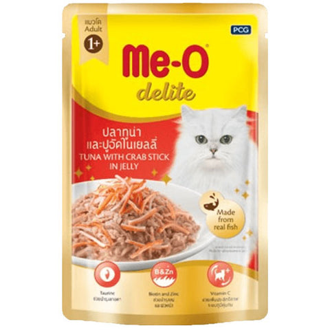Me-O Cat Food Tuna And Crab In Jelly Pouches 70g