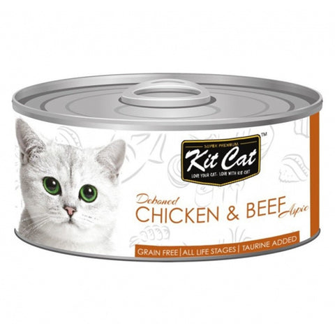 Kit Cat Canned Chicken and Beef 80 g