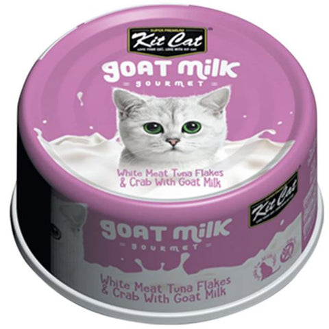 KitCat Goat Milk Gourmet with White Meat Tuna Flakes & Crab 70g