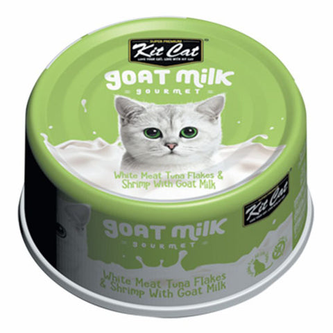 KitCat Canned Cat Wet Food with Goat Milk And Tuna 70g