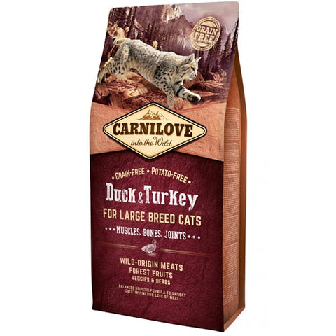 Carnilove Dry Food Duck & Turkey for Large Breed Cats