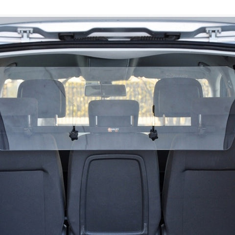 Clear transparent plastic partition inside the car, small size 95 * 34 cm