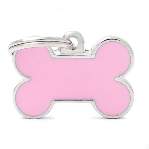 Pink Aluminum Bone shaped Necklace