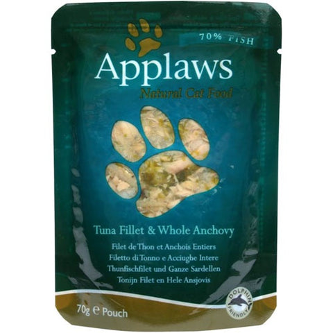 Applaws Cat Food Pouches Tuna Fillet With Anchovy in Gravy 70g