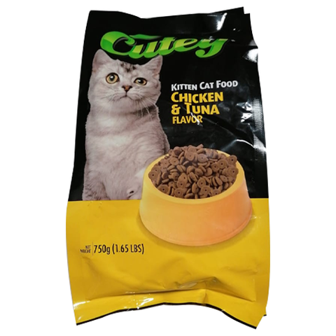 Cutey Cat Dry Food Chicken And Tuna 750g