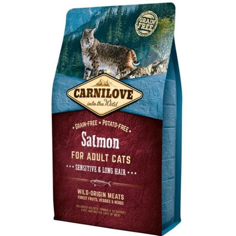 Carnilove Salmon for sensitive, long-haired Adult Cats