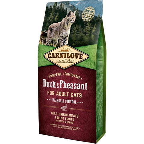 Carnilove Duck & Pheasant Adult Cat Food - Hairball Control