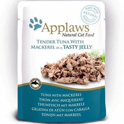 Applaws Pouch Tuna & Mackerel in Jelly 70g