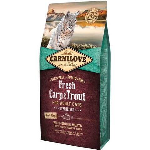 Carnilove Carp & Trout Adult Cat Dry Food
