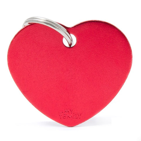 Red Aluminum Heart shaped Necklace