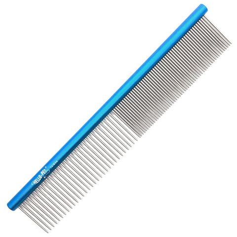 Aluminum dog comb for long hair styling