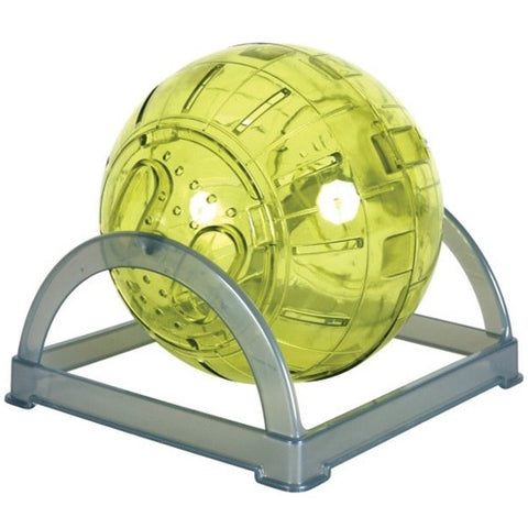 Zolux Ball for Hamsters And Mice With Green Holder