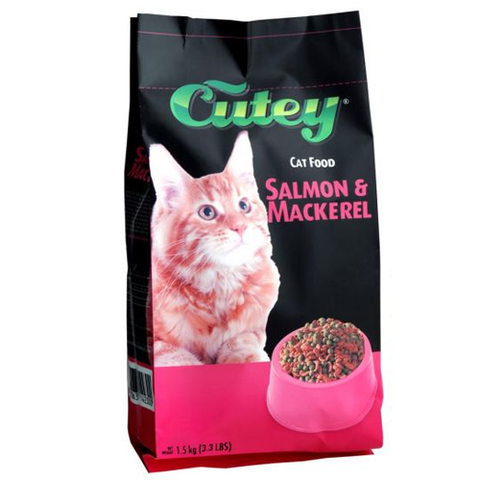 Cutey Cat Dry Salmon and Mackerel 1.5kg